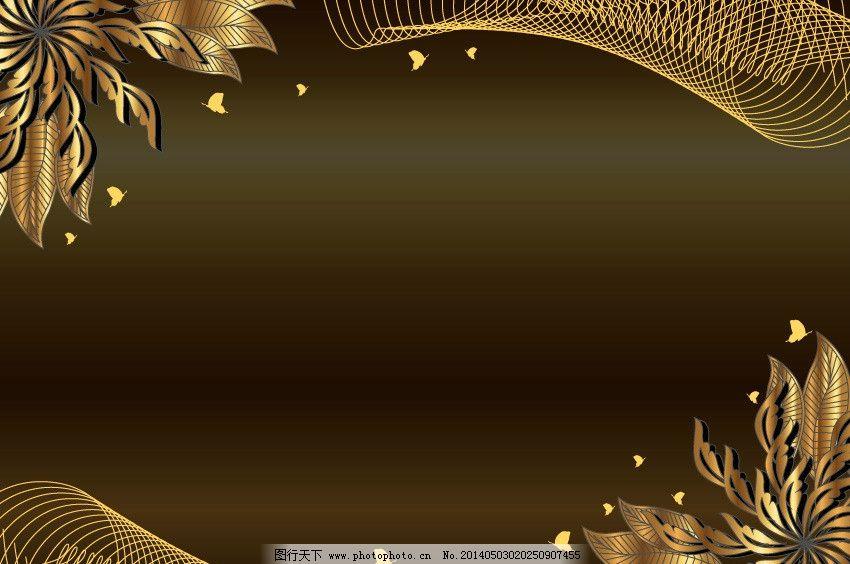 淡雅 黑色 白色花纹 褐色背景 线条 花藤 花枝 枝叶 欧式底纹 藤蔓 枝