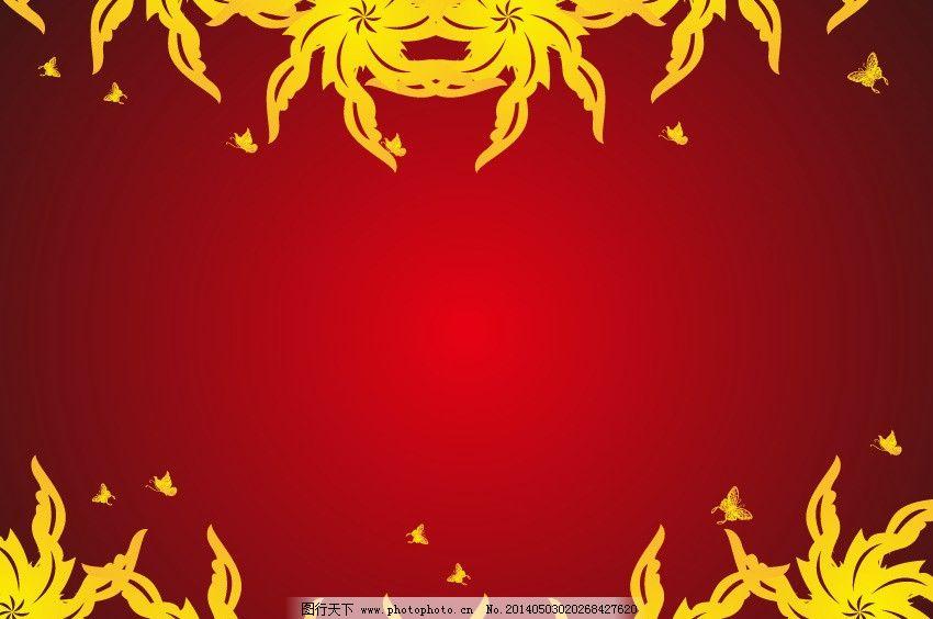 时尚底纹 底纹底图背景 红色背景 红背景 线条 花藤 花枝 枝叶 欧式