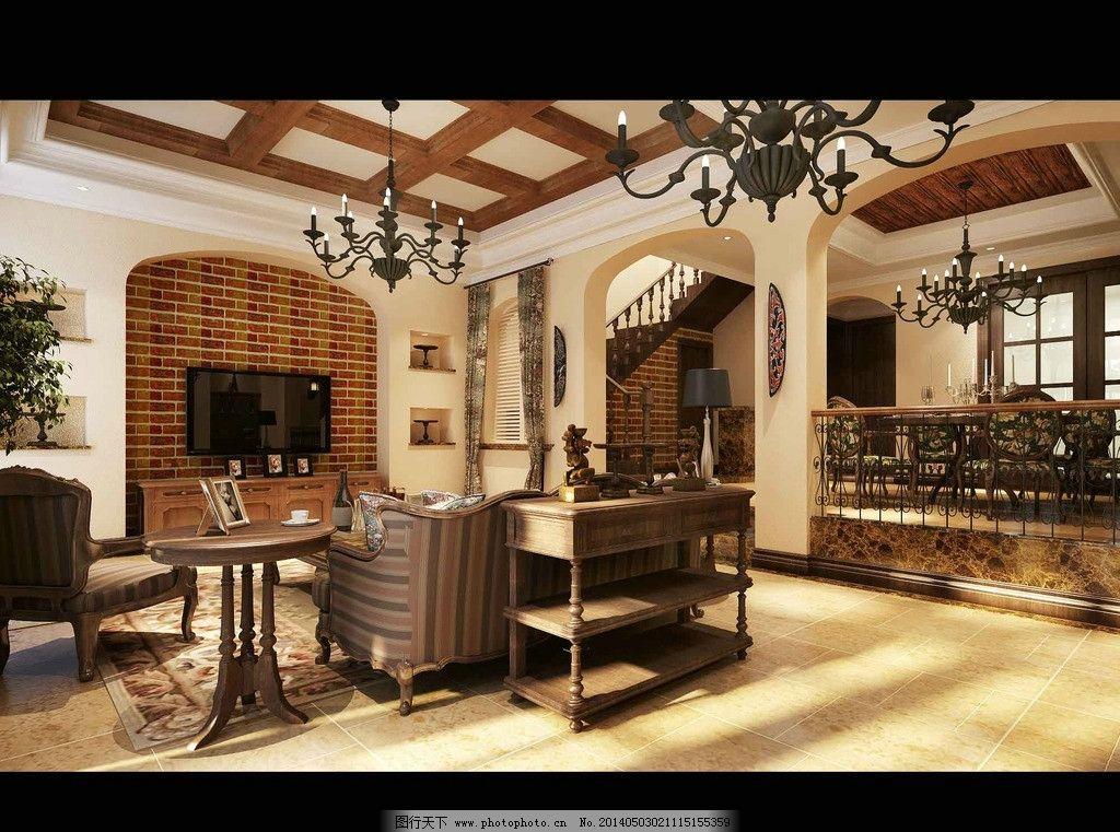 欧式客厅图片_3d作品设计