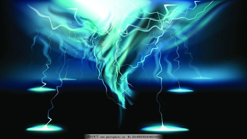 龙卷风 灾难 破坏 漩涡 闪电 自然灾难 旋风 手绘 其他 自然景观 矢量
