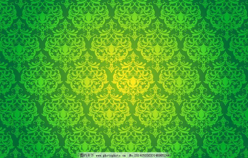 浅绿色欧式壁纸效果图