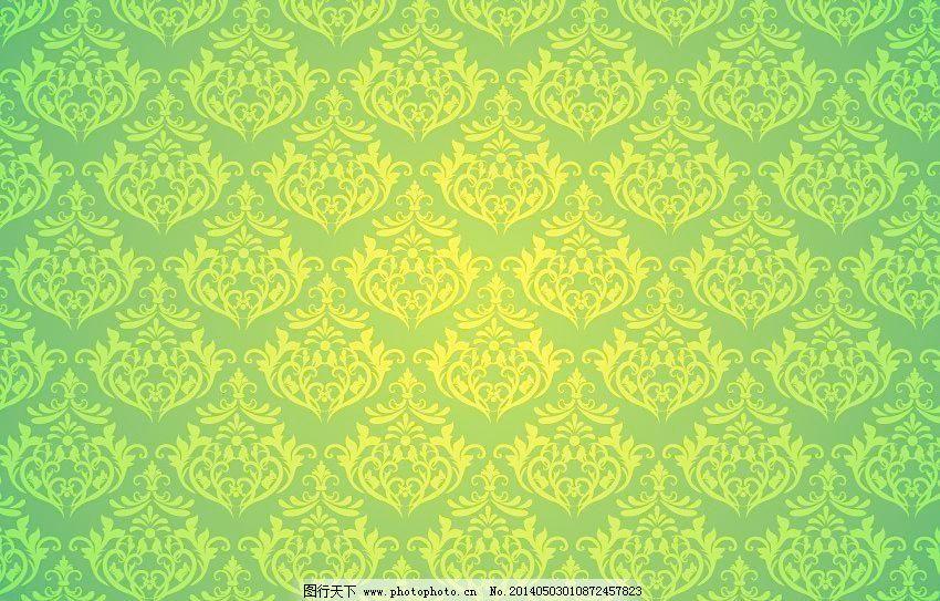浅绿色欧式壁纸贴图