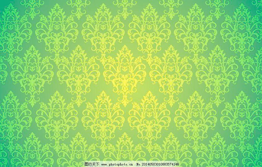 欧式壁纸浅绿色