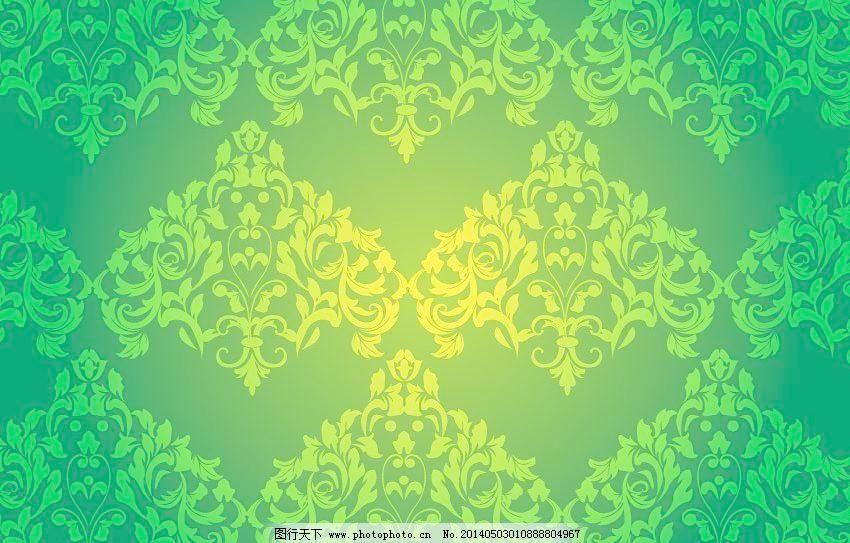 绿色花纹 绿色 黄绿背景