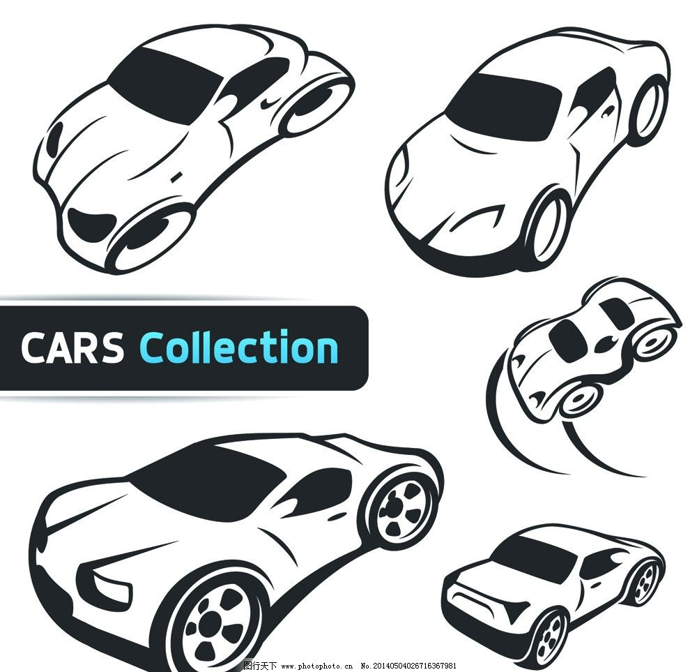 手绘汽车图片