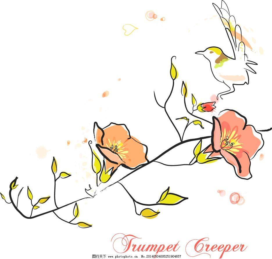 手绘花朵图案免费下载 花朵 花卉 手绘 素描 唯美 唯美 素描 手绘