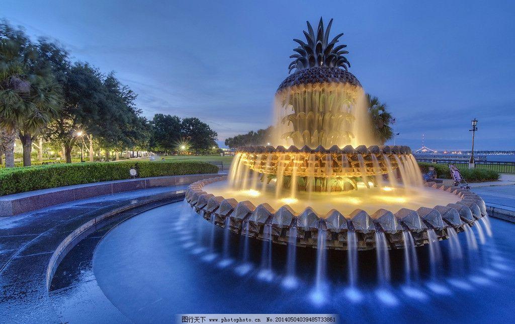 广场喷泉 水池 音乐喷泉