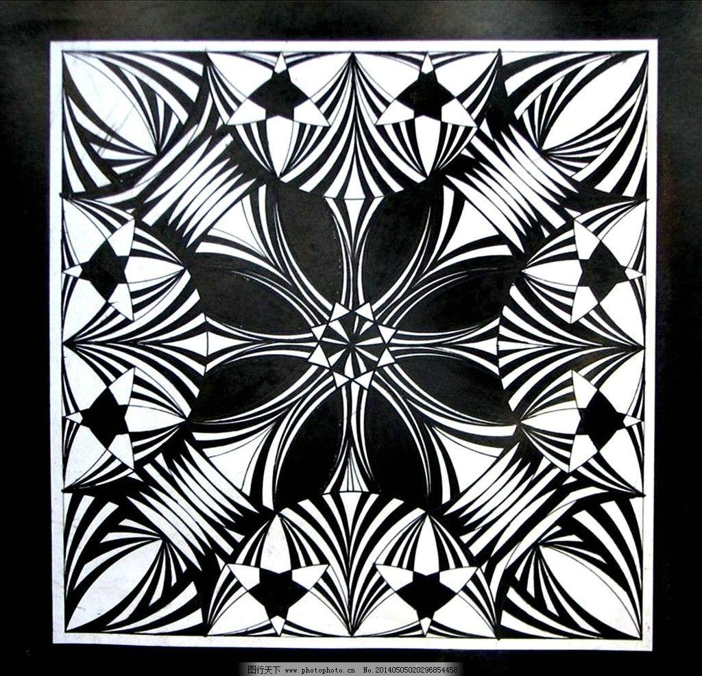 平面构成图案 平面 构成 图案 发射 花卉 背景底纹 底纹边框 设计 96