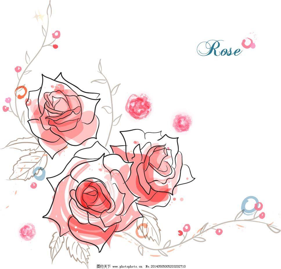 玫瑰花素描步骤图_图解步骤