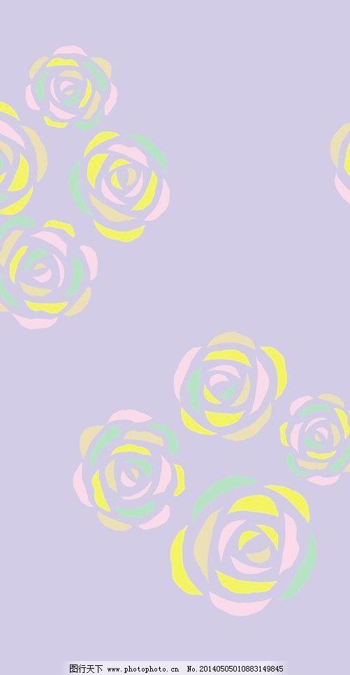 布纹 底纹背景 底纹边框 花朵 花纹 花纹花边 几何元素 简洁图案 玫瑰