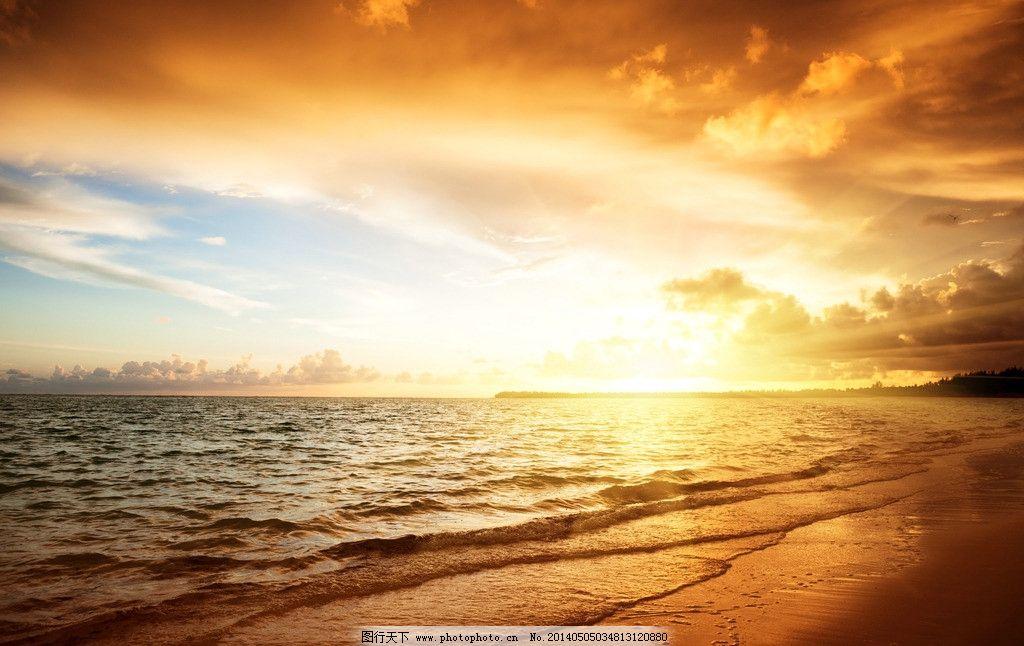 海边日出图片_自然风景_自然景观_图行天下图库