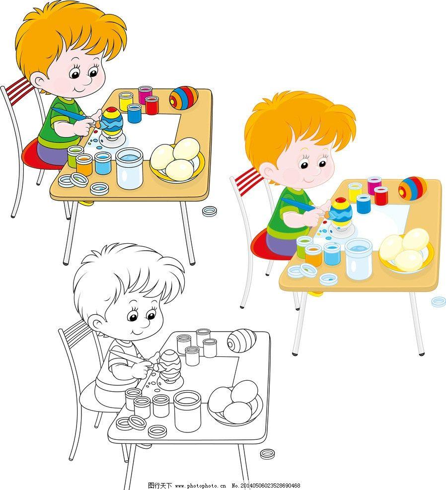 漫画儿童 幼儿园 幼儿 小学生素材 儿童 卡通学生素材 绘画 矢量人物