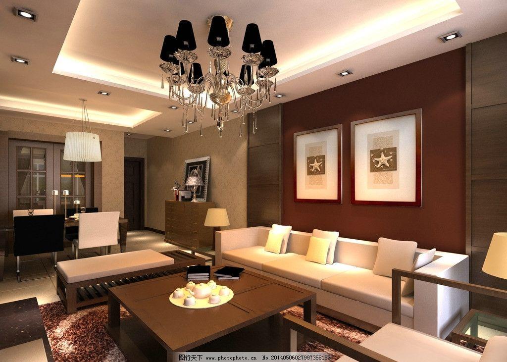 中式客厅沙发墙图片_室内设计