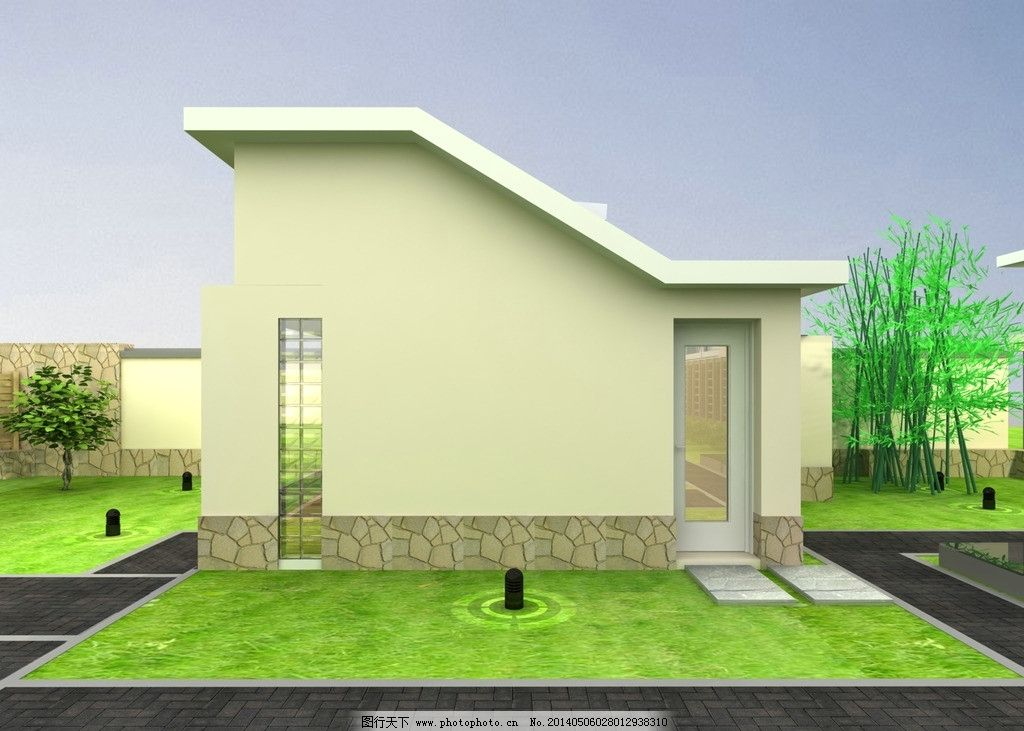 农家院 小别墅立面 建筑 草地 立体 别墅 建筑设计 环境设计 设计 72