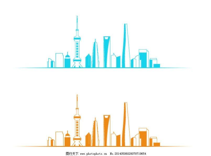 上海外滩建筑最新矢量 上海 上海外滩 上海外滩标志性建筑图 东方明珠