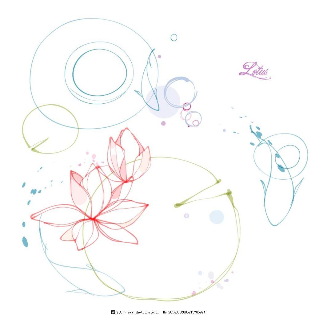 花朵 花卉 莲花 手绘 素描 唯美 唯美 素描 手绘 花朵 花卉 莲花 矢量