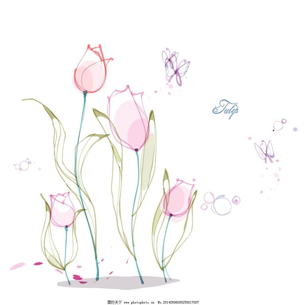 百合花 花朵 花卉 手绘 素描 唯美 唯美 素描 手绘 花朵 花卉 百合花