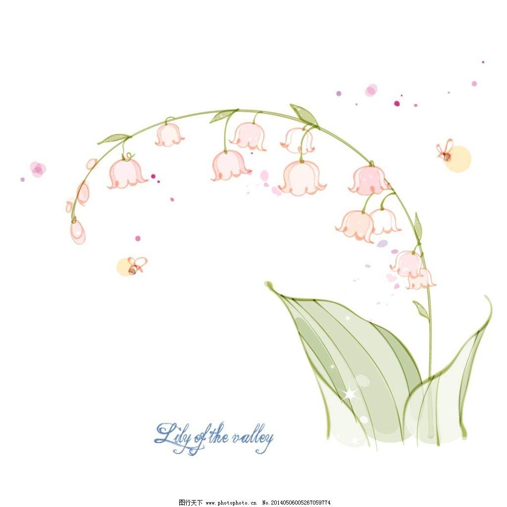 花朵 花卉 手绘 素描 唯美 唯美 素描 手绘 花朵 花卉 铃兰花 矢量图
