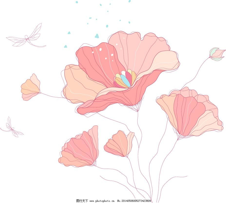花朵 花卉 木兰花 手绘 素描 唯美 唯美 素描 手绘 花朵 花卉 木兰花