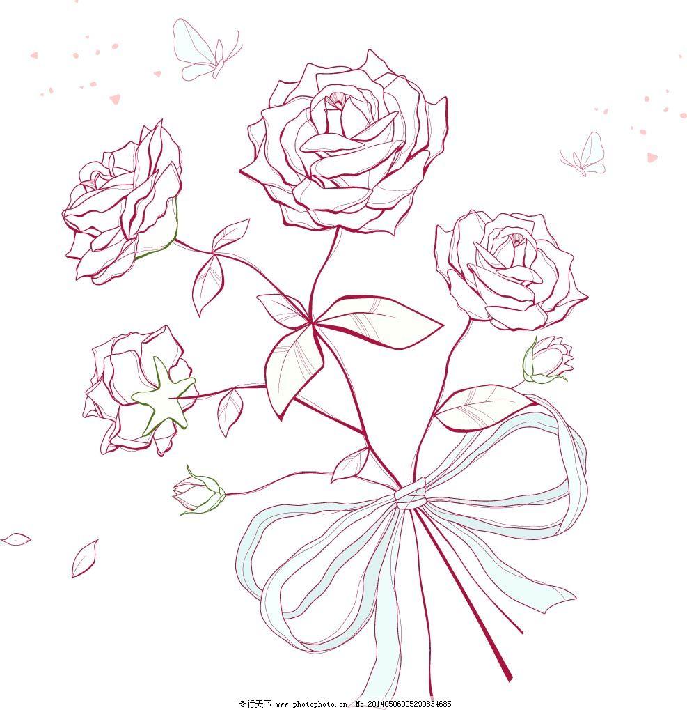 玫瑰花怎么画简单好看图解