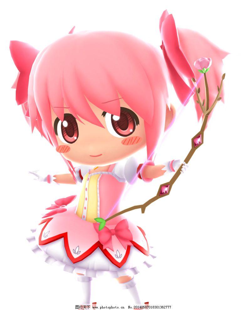 萌女孩 卡通 漫画 动漫 粉色头发 萌 女孩 可爱 舞蹈 魔法 动漫人物