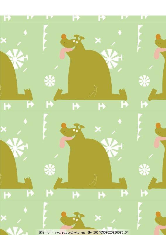 动物图案 卡通布纹 卡通图案 花纹 印花 印花图案 墙纸 图形