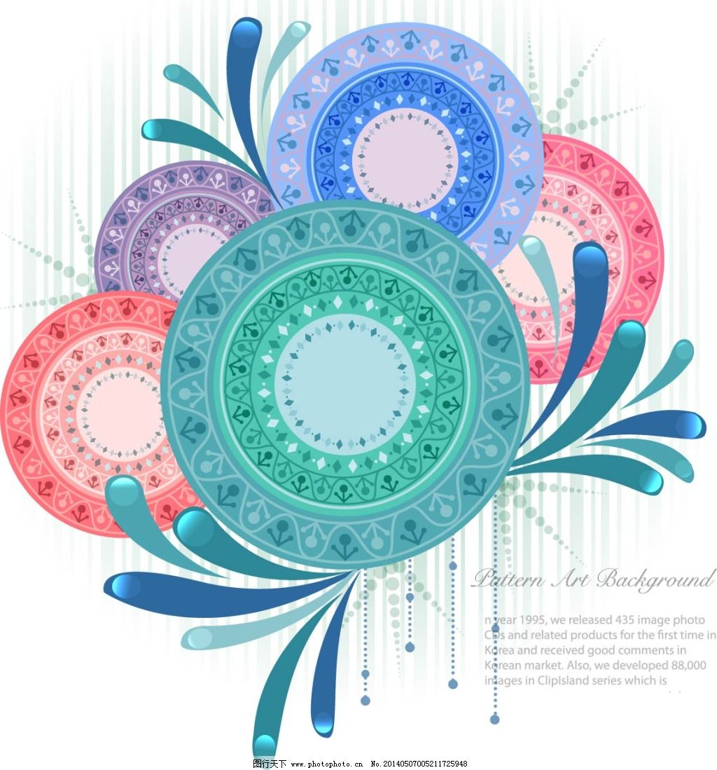素描 图案 圆形 插画 图案 素描 手绘 圆形 创意 矢量图 花纹花边