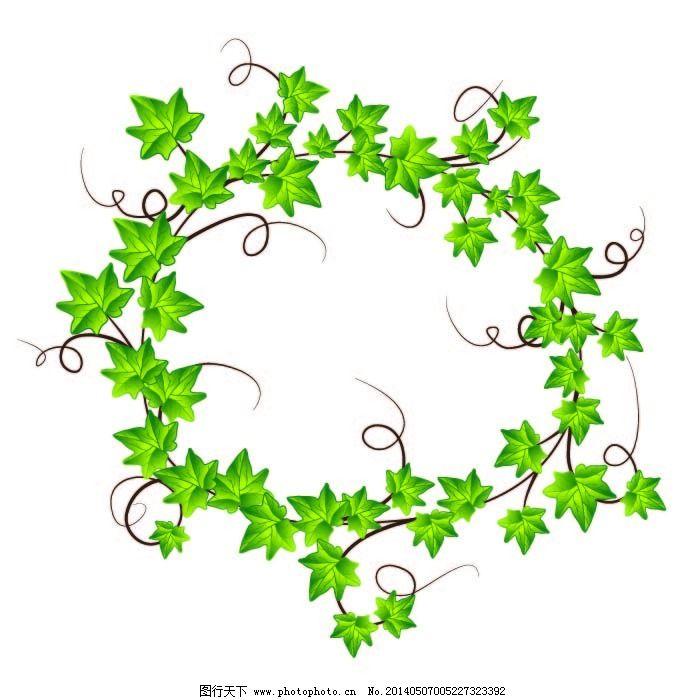 叶子蔓藤免费下载 绿色 蔓藤 叶子 叶子 绿色 蔓藤 矢量图 花纹花边