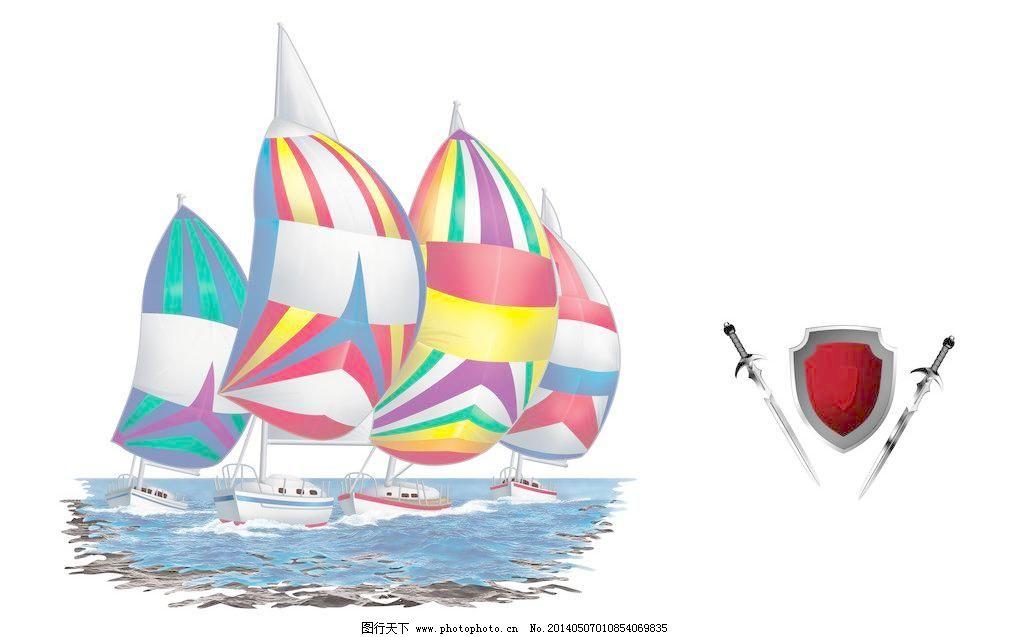 动漫设计 插画设计 漫画设计 手绘设计 抽象卡通 炫丽 梦幻 卡通帆船