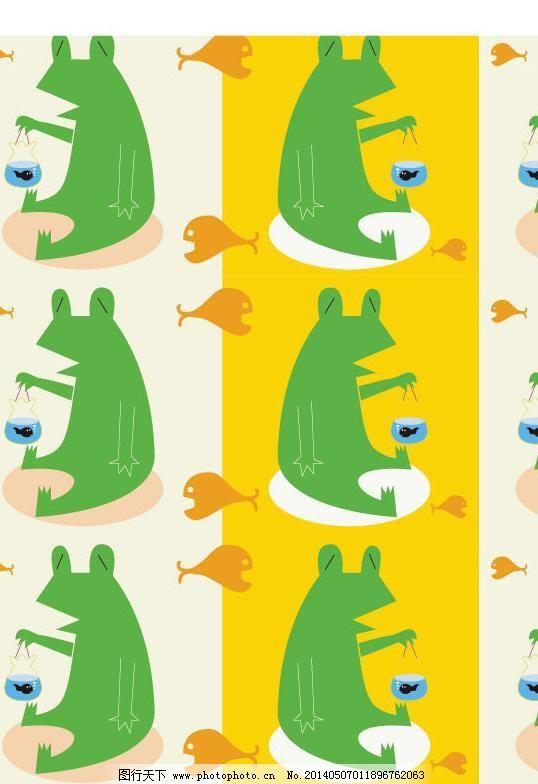 ai 布纹 底纹背景 底纹边框 动物图案 荷叶 花纹 卡通 卡通图案 墙纸
