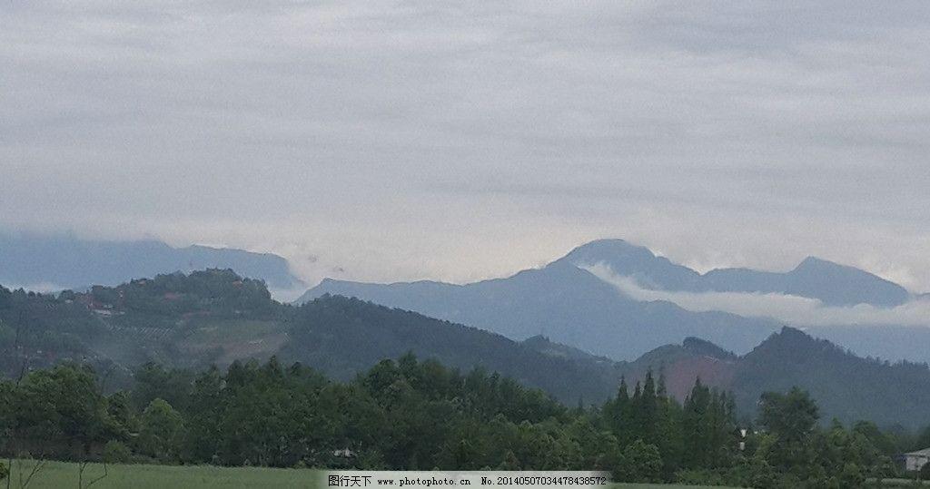崇州景观 四川崇州 无根山 春天 远山 天空 山水风景 自然景观 摄影