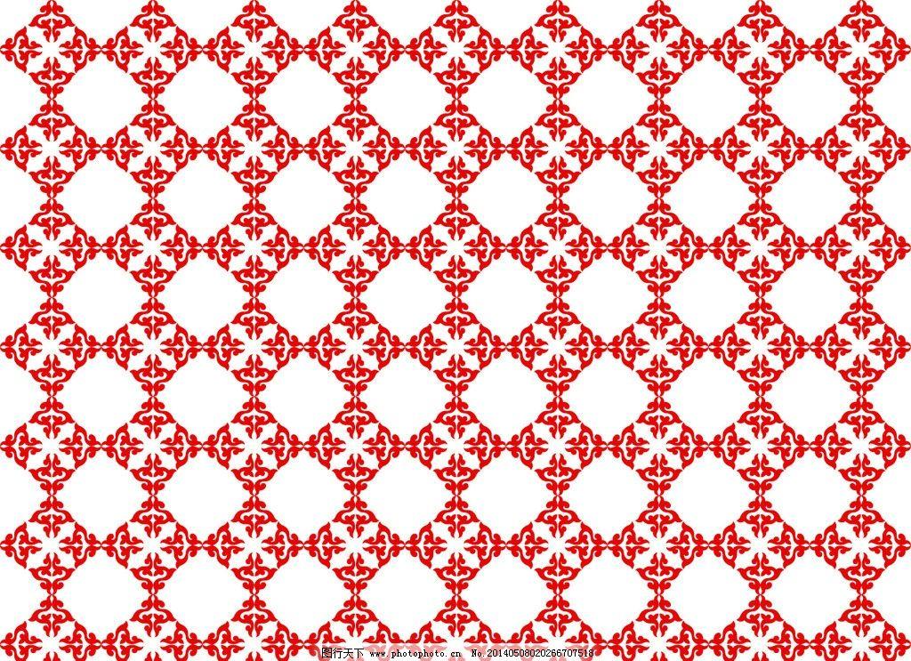 连续图案矢量图 连续 图案 花 树叶 矢量 古典 欧式 底纹背景 底纹