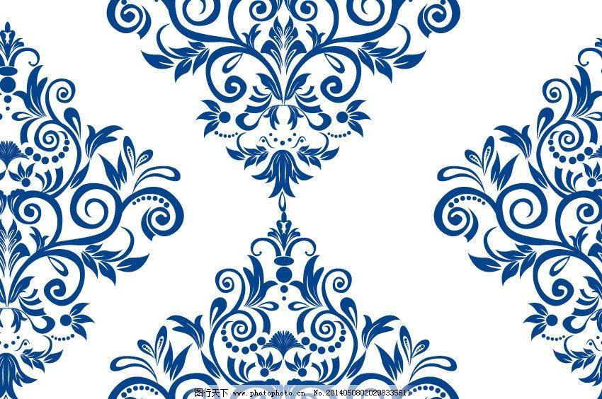 花瓷 青花瓷花纹模板图片