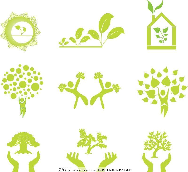 手形 手托树苗 绿色 叶子 环保 生态 手绘 时尚 梦幻 背景 树木树叶图片