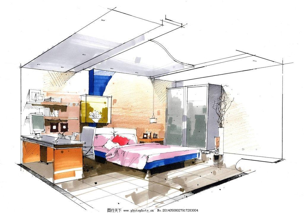 室内 手绘图 别墅图片