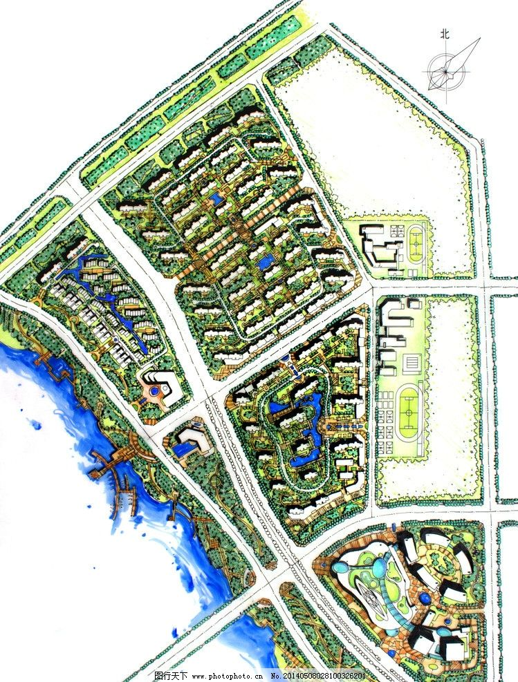 平面图 手绘总图 总平图 规划设计 周熙鵾 周熙鵾手绘 景观设计 环境