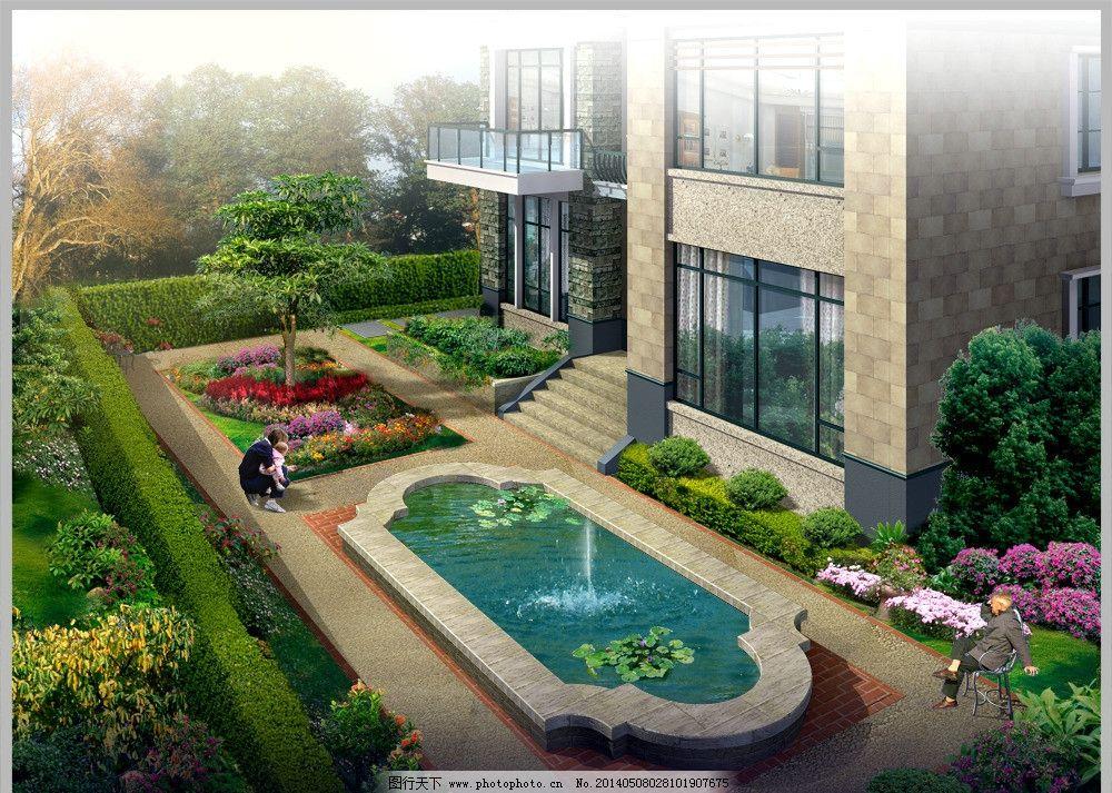 景观中庭喷泉设计图片图片