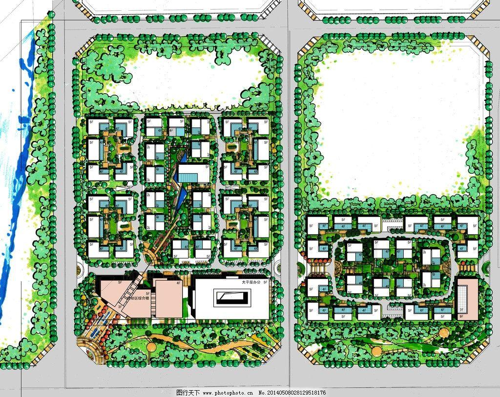产业园总图 手绘总图 总平图 规划设计 周熙鵾 周熙鵾手绘 景观设计