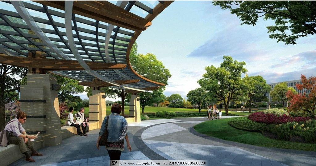 现代 景观 廊架 植物 设计 景观设计 环境设计 72dpi jpg
