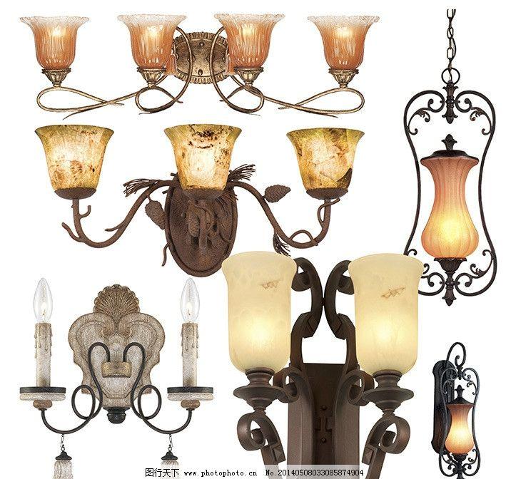 壁灯 欧式壁灯 古典壁灯 复古壁灯 玻璃灯罩 电壁灯 灯饰素材 psd分层