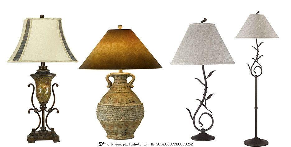 台灯素材 台灯 欧式台灯 古典台灯 台式灯 拼花灯罩 潮流款式 白色