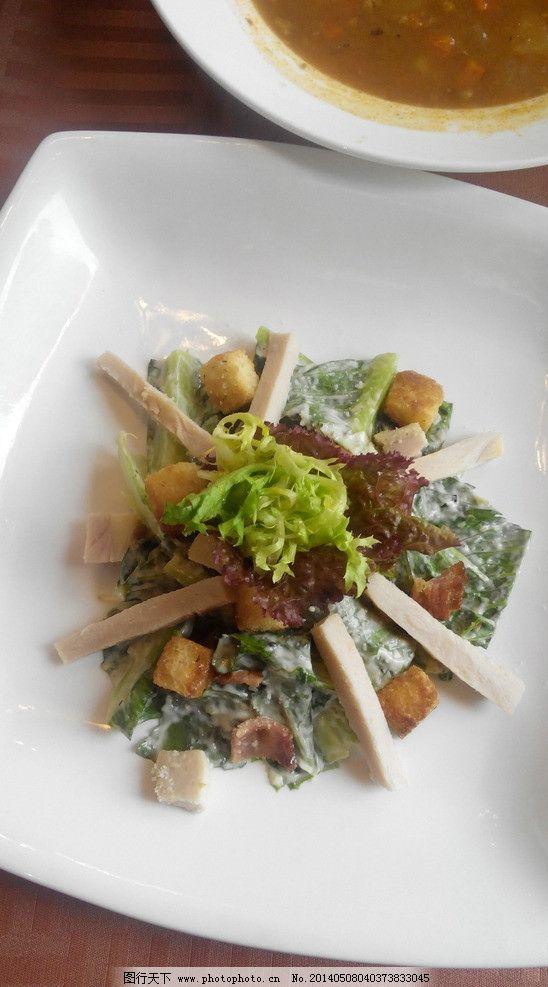 厨师沙拉 西式 美食 西餐 西餐美食 餐饮美食 摄影图片
