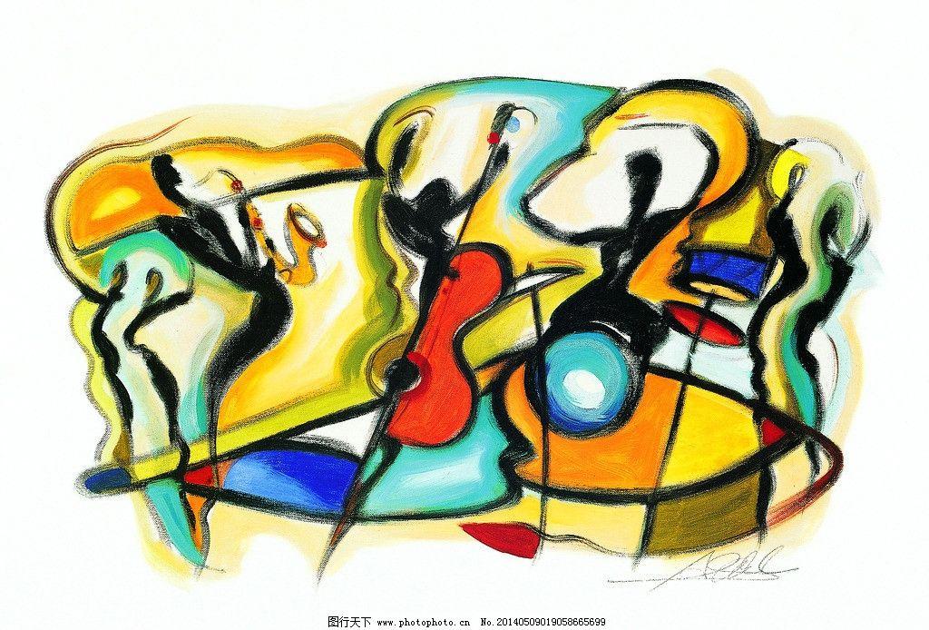 抽象油画 画芯 抽象手绘 人物 装饰画 国外 绘画书法 文化艺术 设计