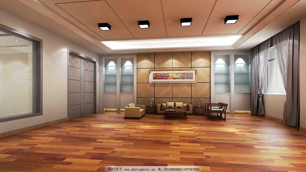 办公室 背景墙 效果图 木地板 室内 窗户 金智装饰