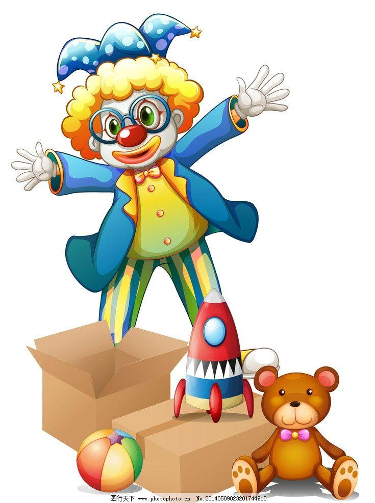 小丑 手绘 马戏团 可爱 滑稽 职业人物 杂技 动漫 矢量人物 卡通设计