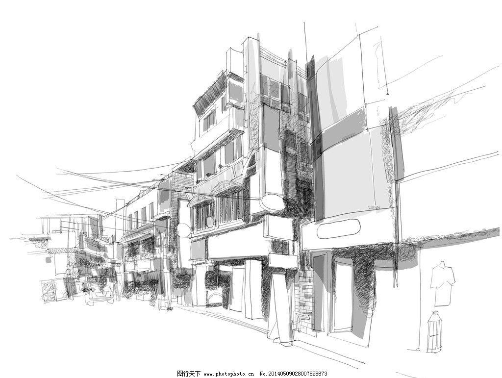 手绘建筑 欧洲建筑 素描 线描 绘画书法 建筑园林 高楼大厦 欧式建筑
