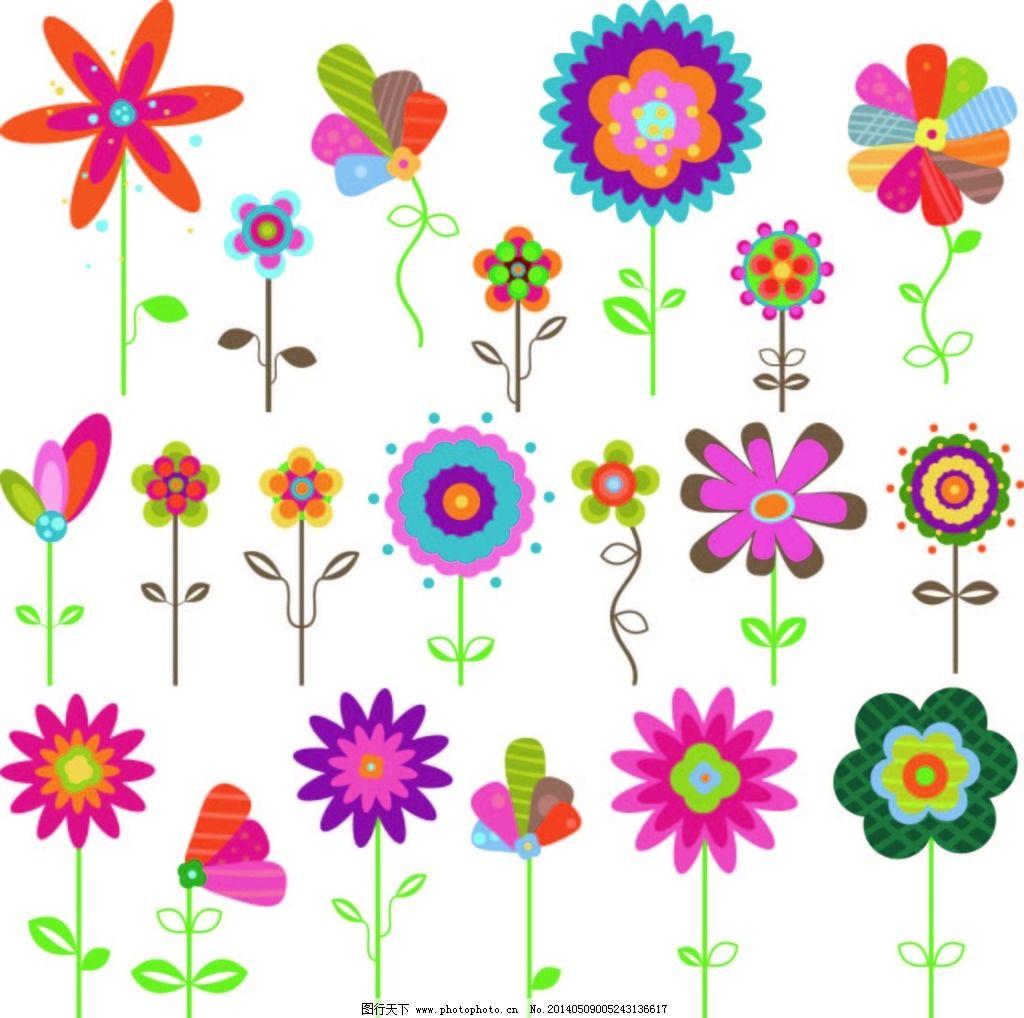 卡通花朵免费下载 花朵 简笔画 卡通 可爱 简笔画 花朵 可爱 卡通