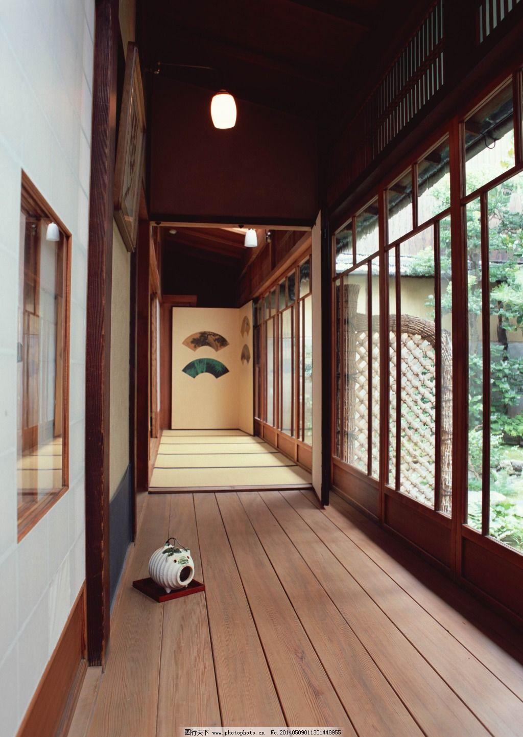 日式走廊免费下载 参考 木头 走廊 参考 走廊 木头 家居装饰素材 室内