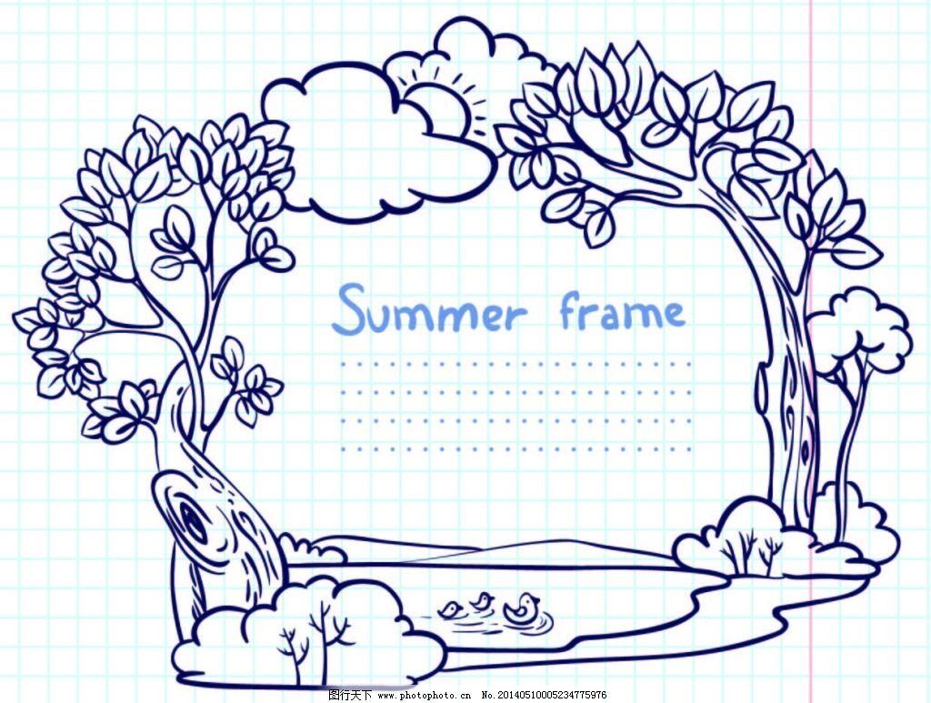 手绘树林免费下载 手绘 树林 素描 圆珠笔 手绘 圆珠笔 素描 树林