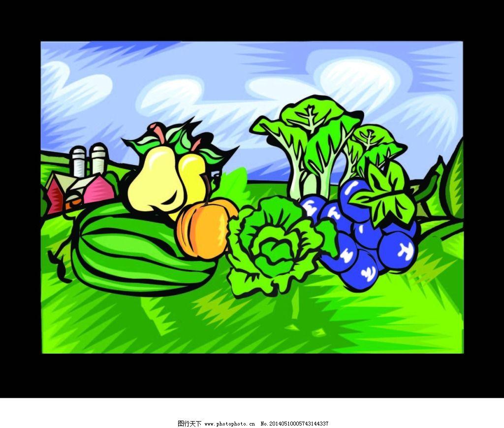 白菜 手绘 蔬菜 素描 手绘 素描 蔬菜 白菜 矢量图 日常生活